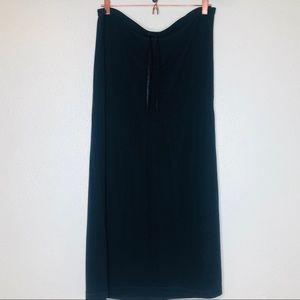 Old Navy Black Drawstring Waist Maxi Skirt